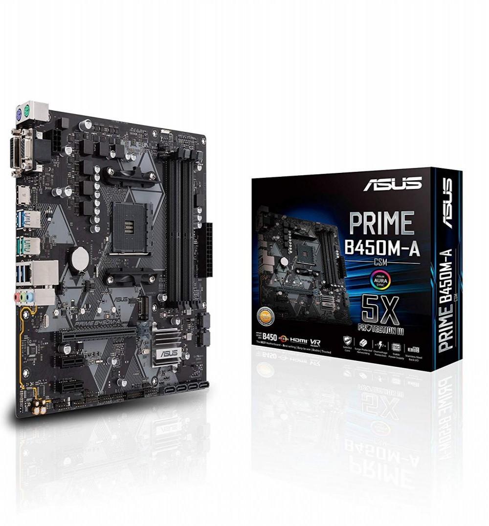 Placa Mãe Asus (AM4) Prime B450M-A CSM HDMI VGA USB 3.1 Gen 2