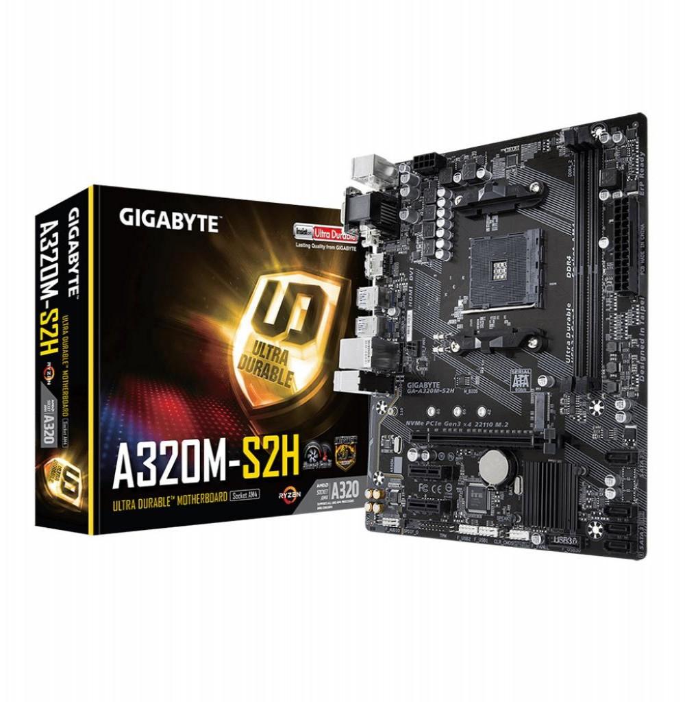 Placa Mãe Gigabyte A320M-S2H AMD Soquete AM4