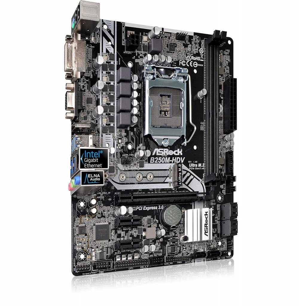 Placa Mãe ASRock B250M-HDV Socket LGA1151 - até 2 DDR4