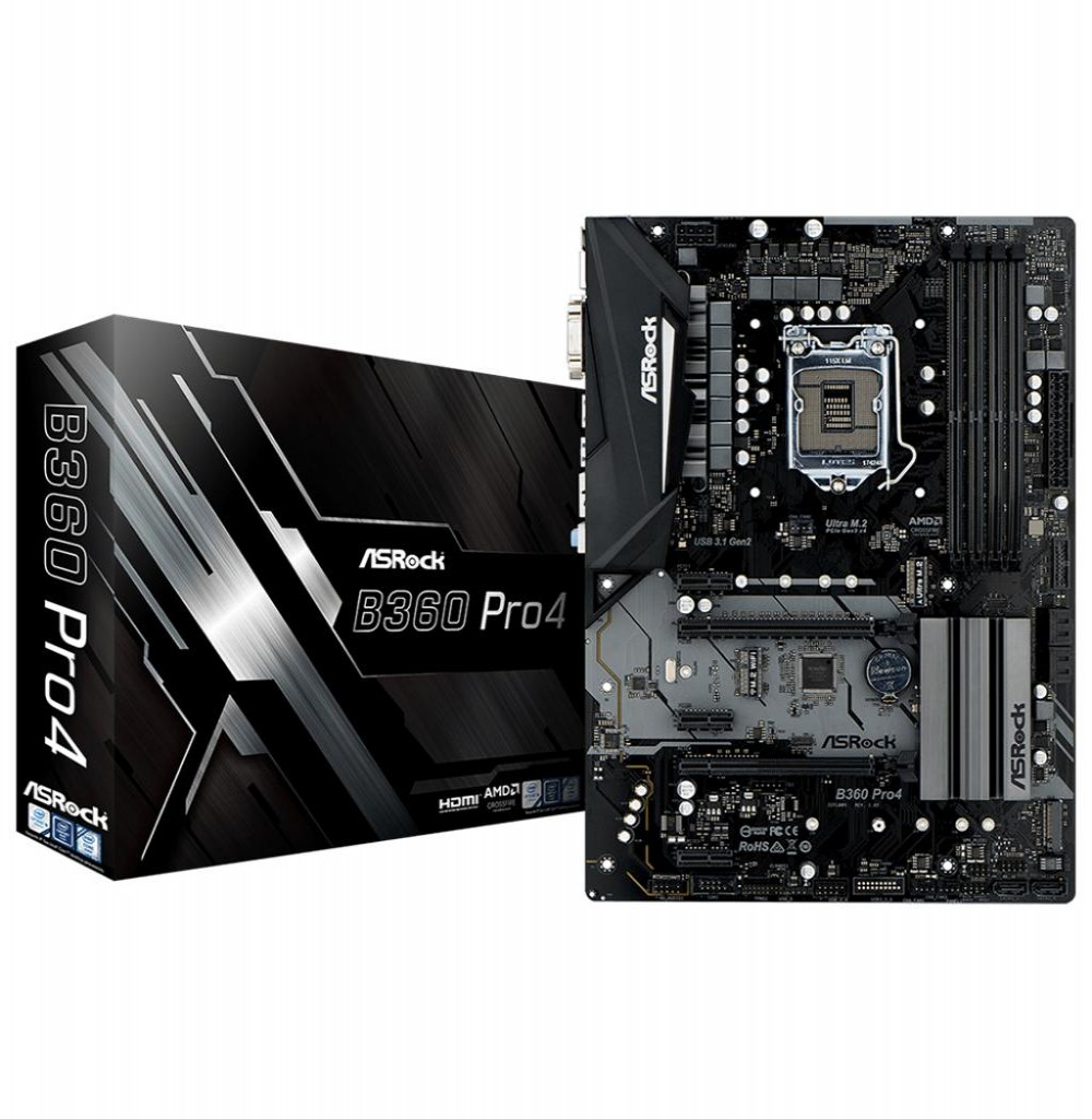 Placa Mãe Asrock B360 PRO4 Intel Soquete LGA 1151