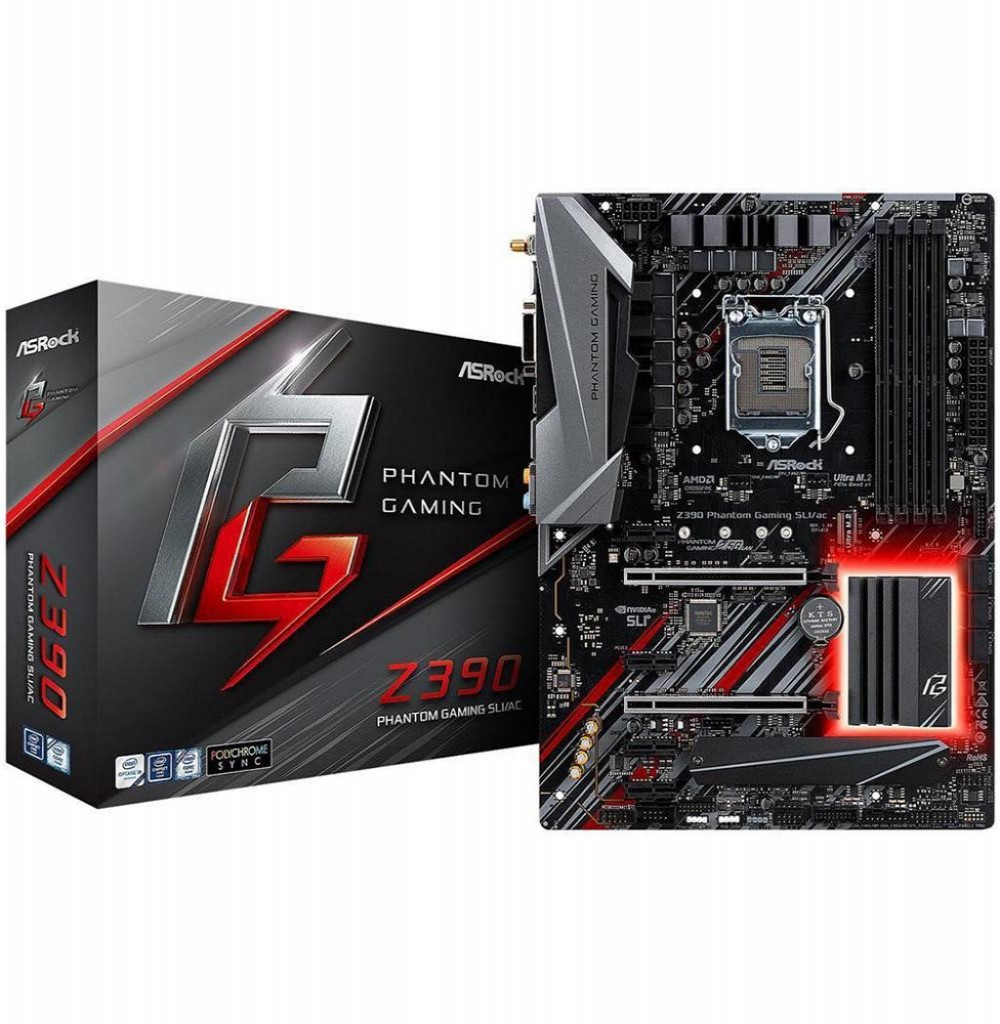 Placa Mãe Asrock LGA1151 Z390 Phantom Gaming Sli/Ac