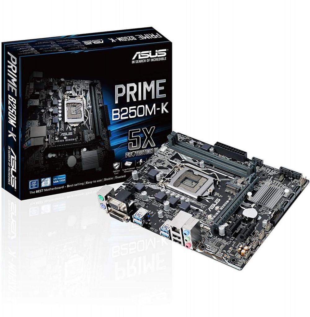 Placa Mãe Asus Para Intel 1151 PRIME B250M-K