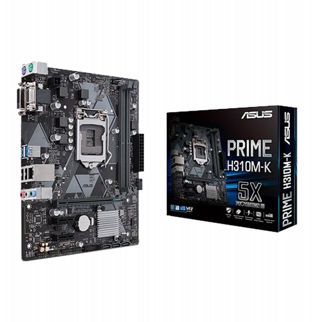 Placa Mãe Asus Prime H310M-K R2.0 LGA1151/2xDDR4/PCI-E/DVI-D/D-Sub/HDMI/SATA