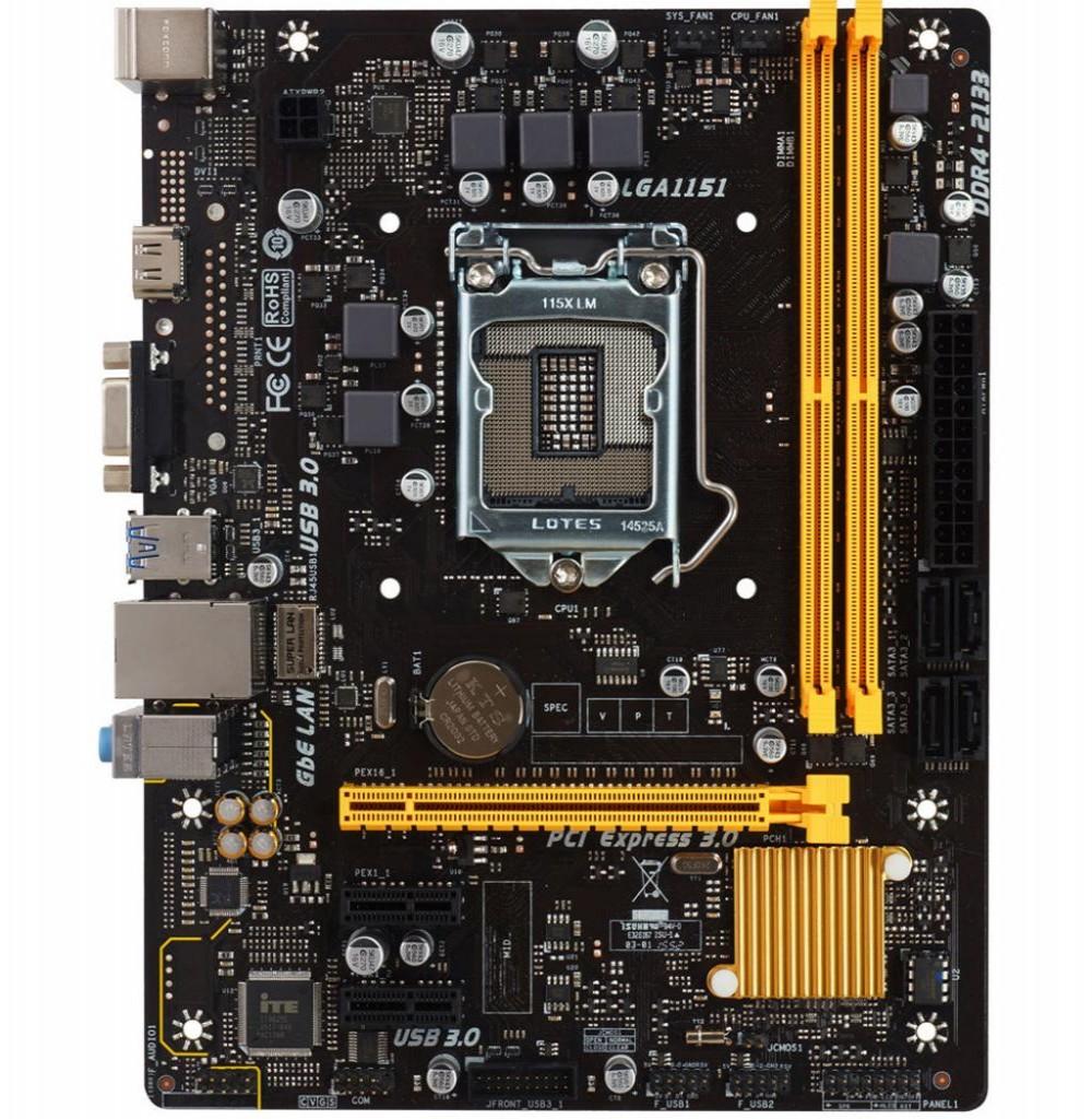 Placa Mãe Biostar H110MH PRO D4 LGA 1151 2X DDR4/VGA/HDMI