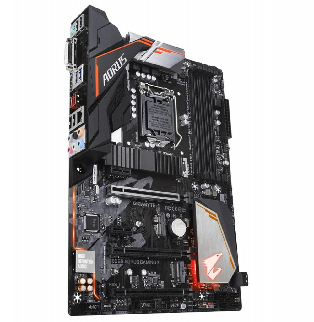 Placa Mãe Gigabyte B360 Aorus Gaming 3 WiFi/LGA1151/4xDDR4/PCI-E/DVI-D/HDMI/SATA