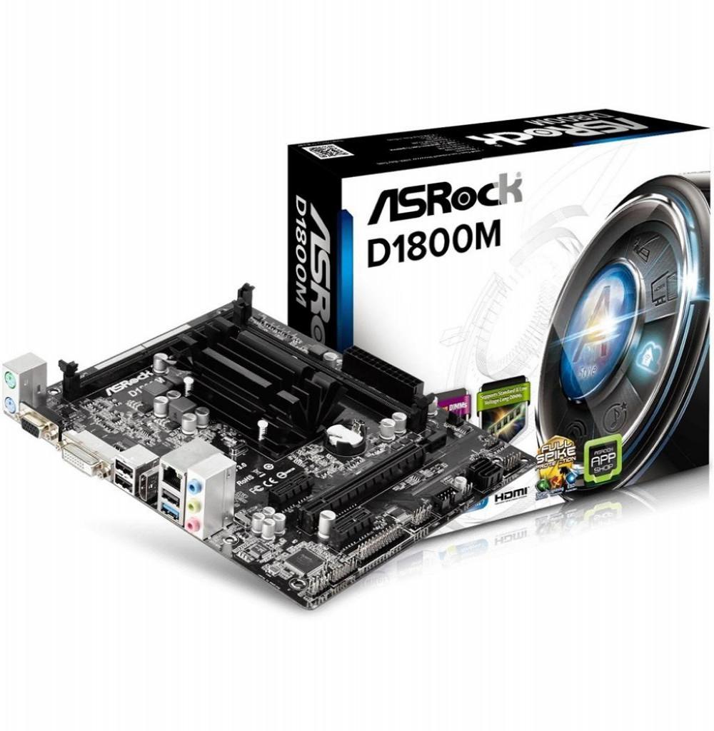 Placa Mãe Asrock D1800M Intel CPU ON-BOARD INTEL 2.41GHZ
