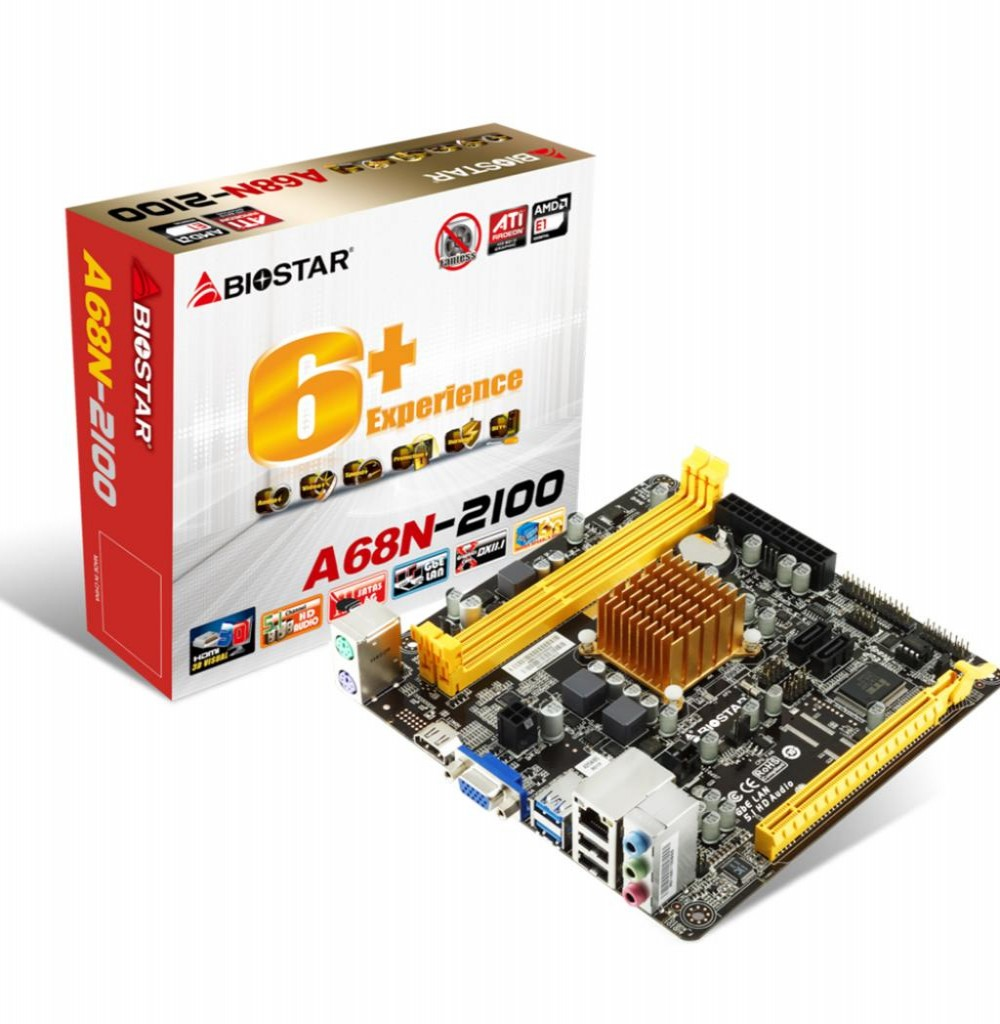 Placa Mãe Mb Biostar A68n-2100 Amd E1-2100 Dual Core Itx