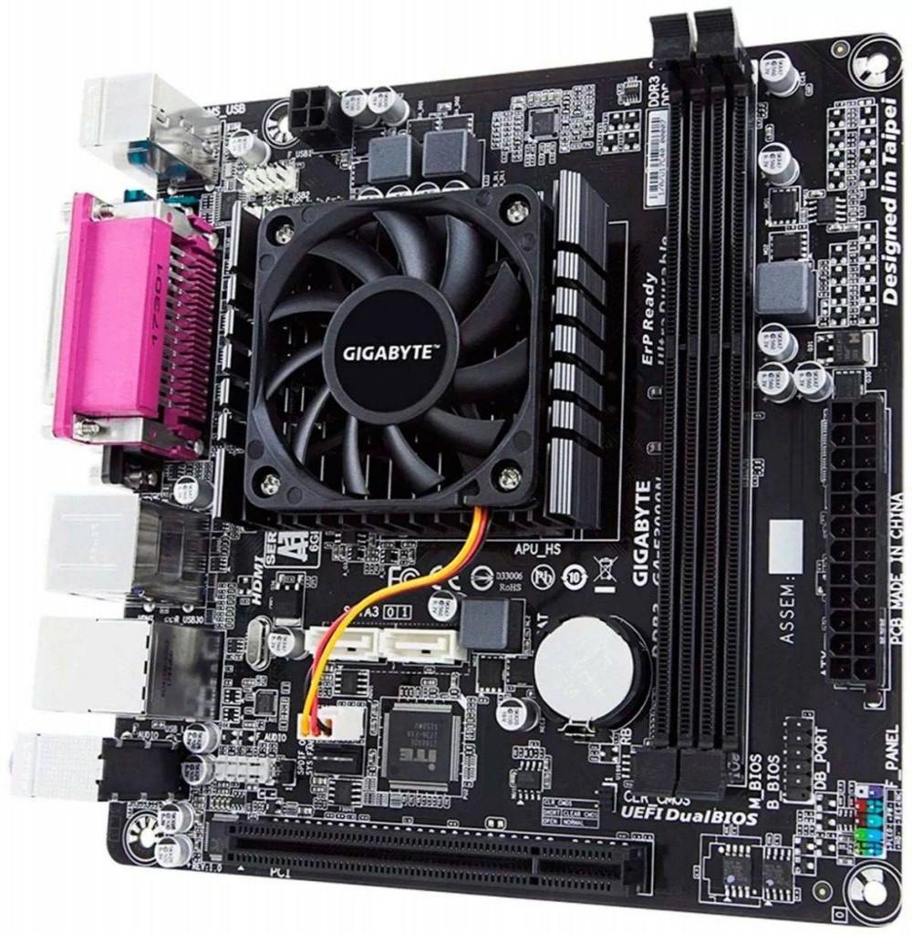 Placa Mãe Gigabyte + Cpu E3000N 1.3 Dual Core / DDR3 / HDMI