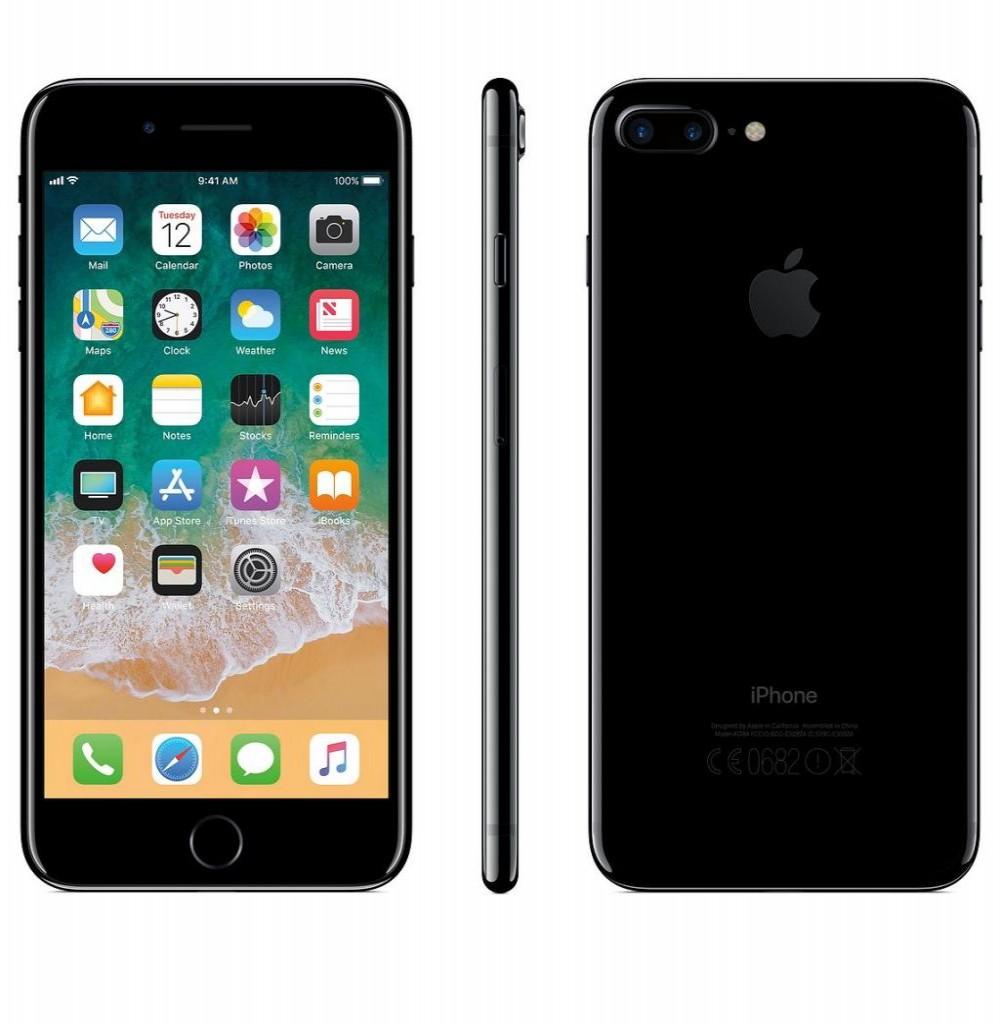 "Apple iPhone 7 Plus A1661 CPO 128GB Tela Retina 5.5"" 12MP/7MP iOS - Jet Black"