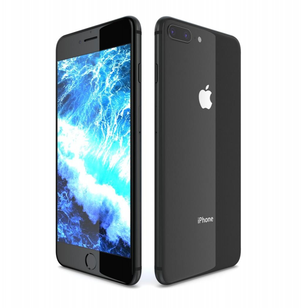 "Apple iPhone 8 Plus A1897 BZ 64GB Tela Retina 5.5"" 12MP/7MP iOS - Cinza Espacial"