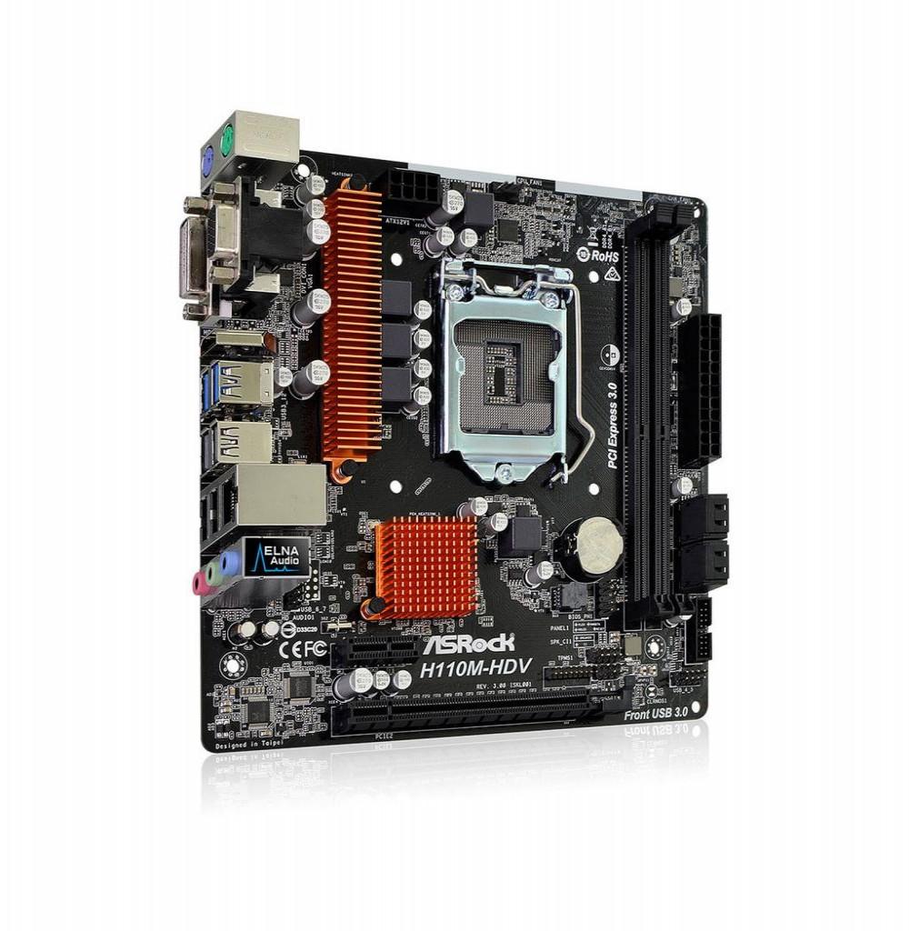 Placa Mãe Asrock H110M-HDV Intel Soquete LGA 1151