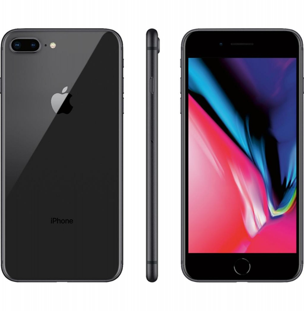 "Apple iPhone 8 Plus A1897 BZ 64GB Tela Retina 5.5"" 12MP/7MP iOS - Cinza Espacial"
