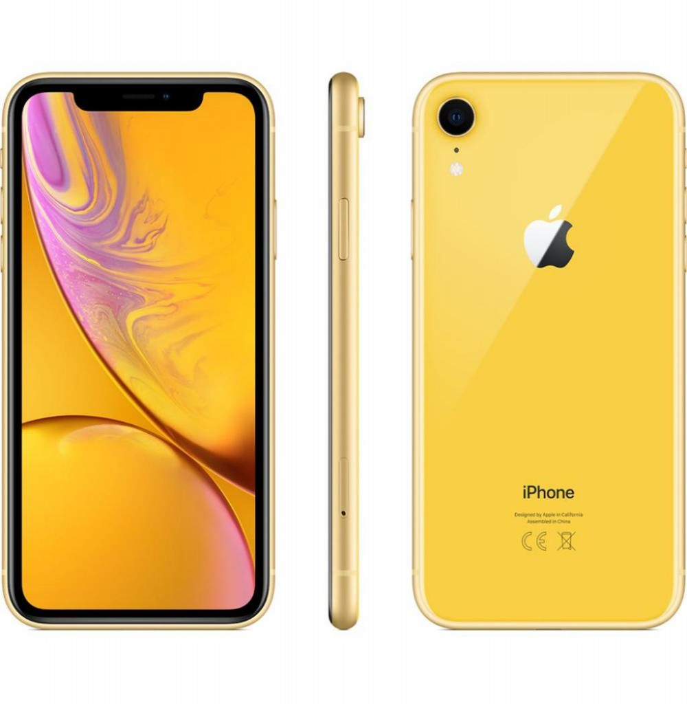 "Apple iPhone XR A21051 28GB Tela Liquid Retina 6.1"" 12MP/7MP iOS - Amarelo"