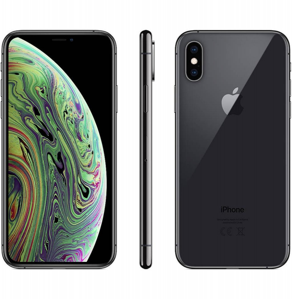 "Apple iPhone Xs A2097 256GB Tela Super Retina OLED 5.8"" 12MP/7MP iOS - Cinza Espacial"