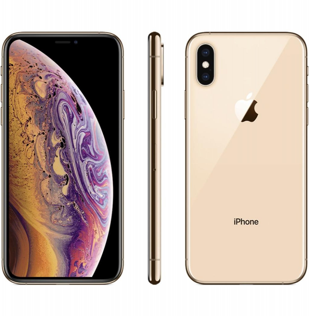 "Apple iPhone Xs A1920 64GB Tela Super Retina OLED 5.8"" 12MP/7MP iOS - Dourado"