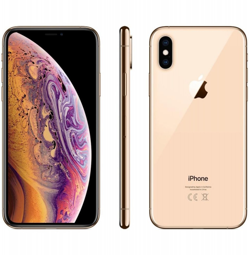 "Apple iPhone Xs Max A1921 64GB Super Retina OLED de 6.5"" 12MP/7MP iOS - Dourado"