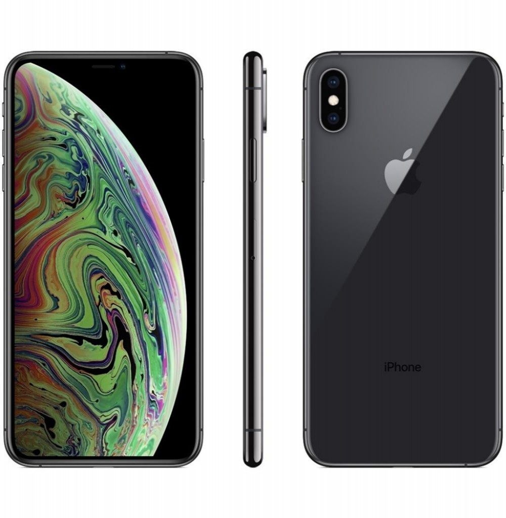 "Apple iPhone Xs Max A2101 64GB Super Retina OLED de 6.5"" 12MP/7MP iOS - Cinza Espacial"