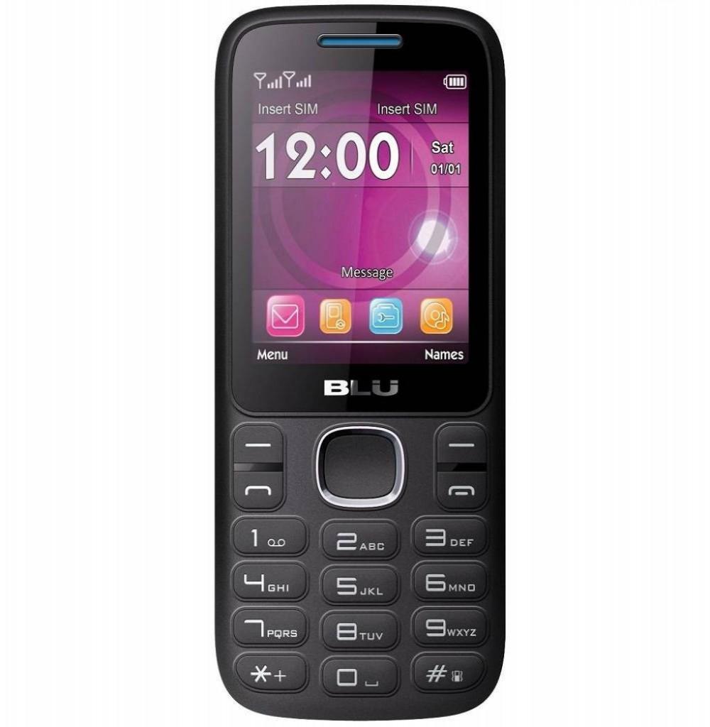 """Celular BLU Zoey 2.4 3G Z070L Dual SIM 128MB de 2.4"""" Câmera VGA/Rádio FM - Preto/Azul"""