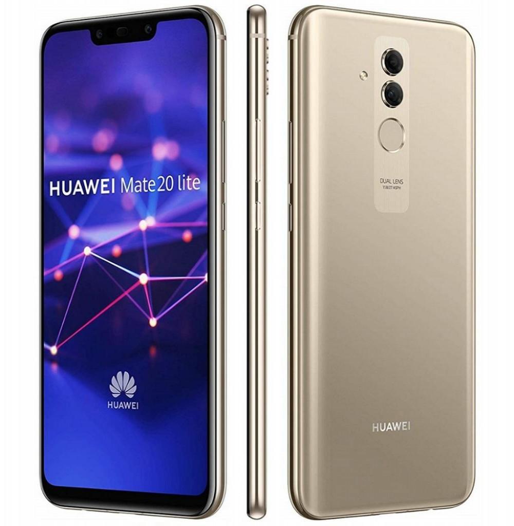 "Smartphone Huawei Mate 20 Lite SNE-LX3 Dual SIM 64GB 6.3"" 20+2MP/24+2MP OS 8.1.0 - Dourado"