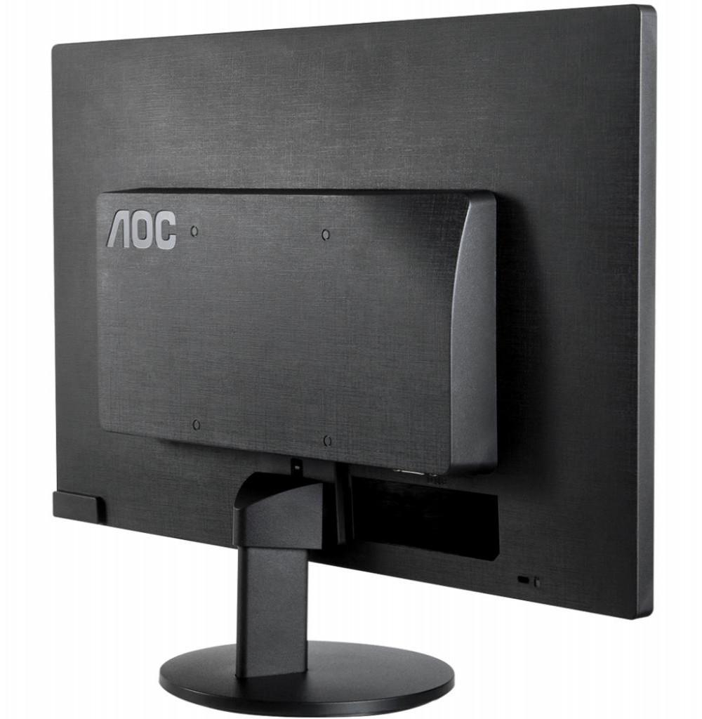"""Monitor LED de 15.6"""" AOC E1670SWU D-SUB/USB 5V DC - Preto"""