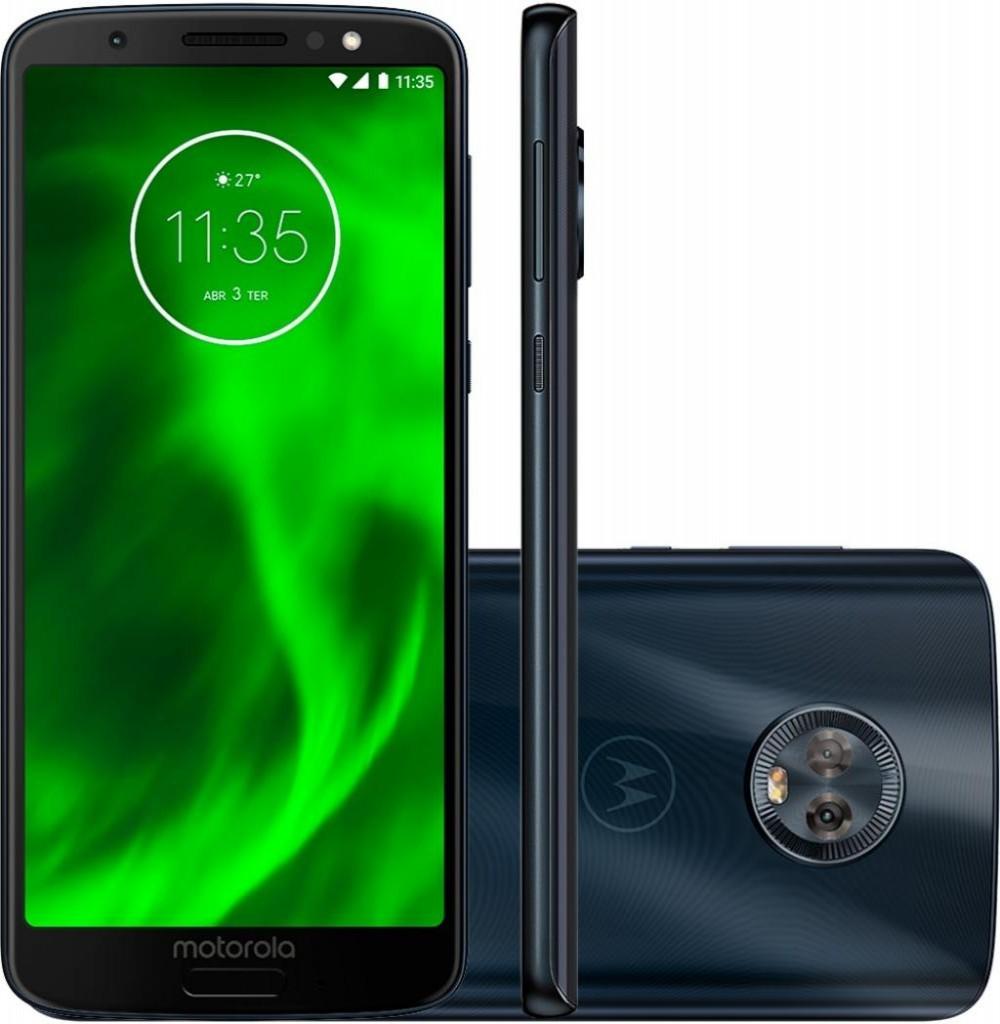 "Smartphone Motorola Moto G6 XT1925 3GB+32GB LTE Dual Sim 5.7""Câm.12MP/5MP+8MP-Azul"
