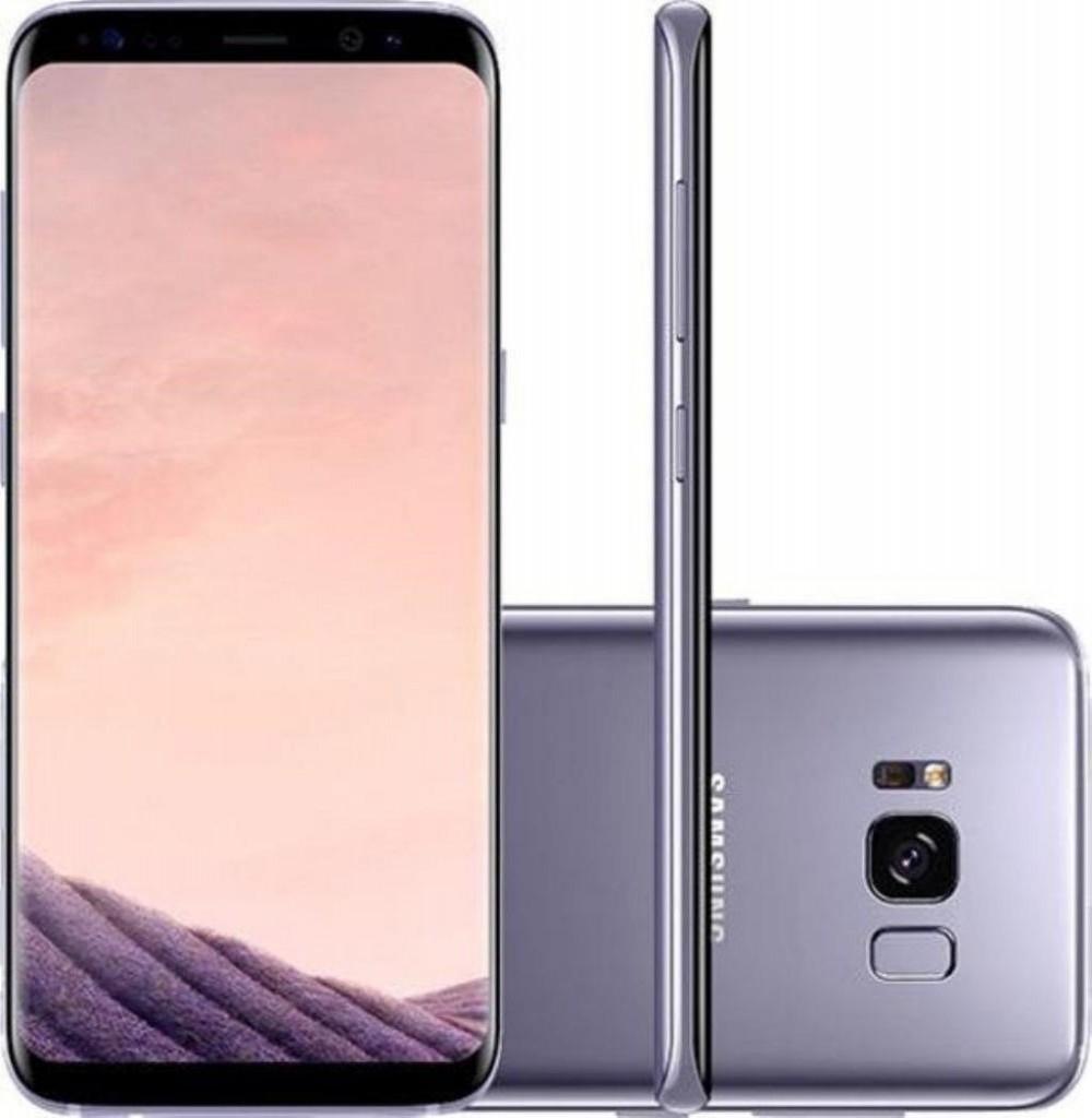 "Smartphone Samsung Galaxy S8+ SM-G955FD Dual SIM 64GB de 6.2"" 12MP/8MP OS 7.0 - Cinza"