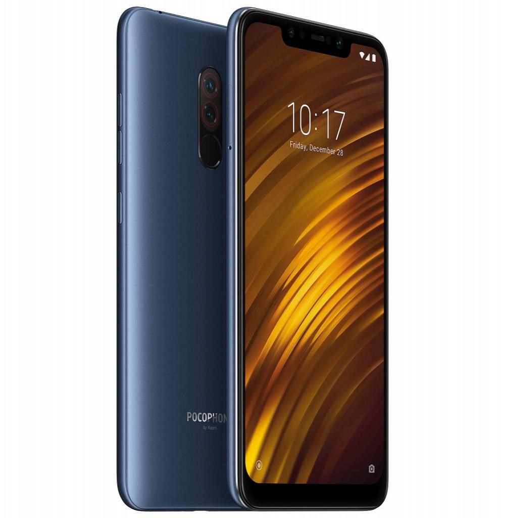 """Smartphone Xiaomi Pocophone F1 Dual SIM 128GB Tela de 6.18"""" 12+5MP/20MP OS 8.1.0 - Azul"""