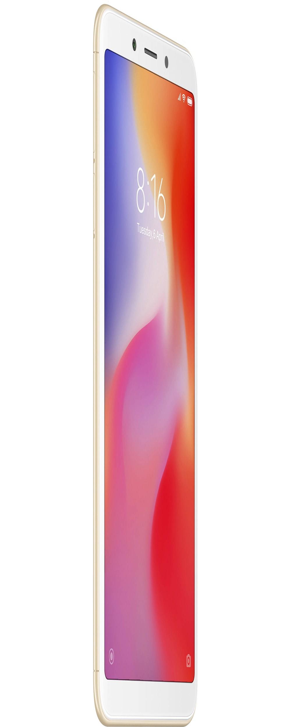 """Smartphone Xiaomi Redmi 6A Dual SIM 32GB Tela de 5.45"""" 13MP/5MP OS 8.1.0 - Dourado"""