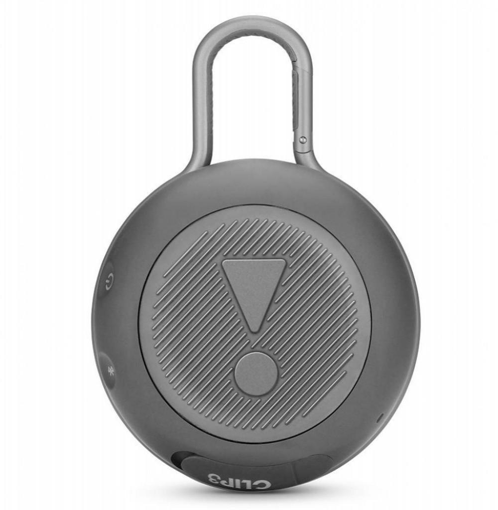 Speaker JBL Clip 3 Bluetooth/Auxiliar Bateria 1.000 mAh - Cinza