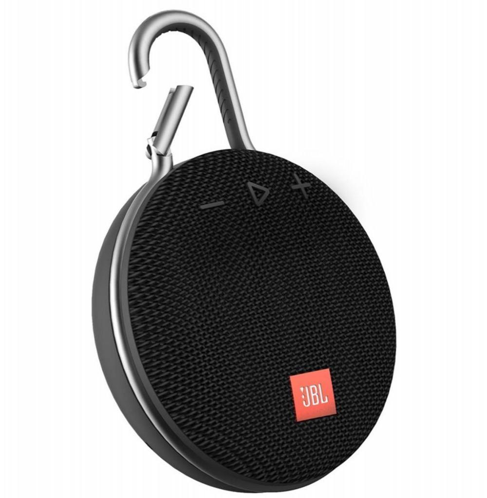 Speaker JBL Clip 3 Bluetooth/Auxiliar Bateria 1.000 mAh - Preto