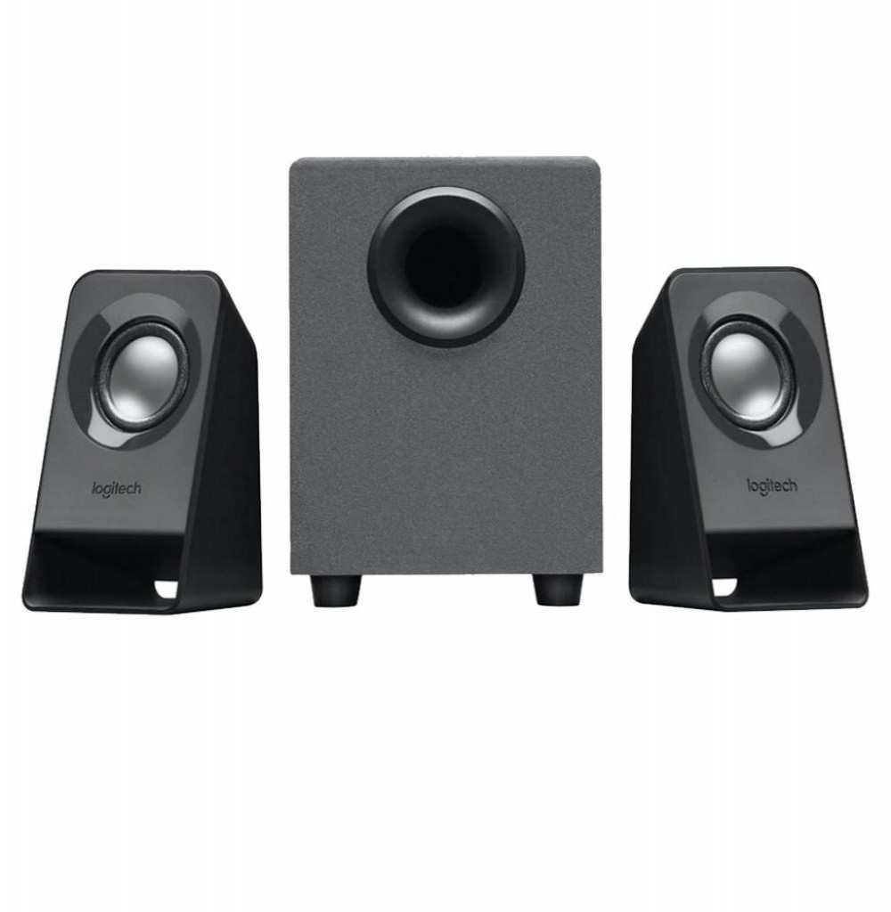 Caixa Home Logitech Z211 7W com Sistema 2.1 Bivolt - Preto