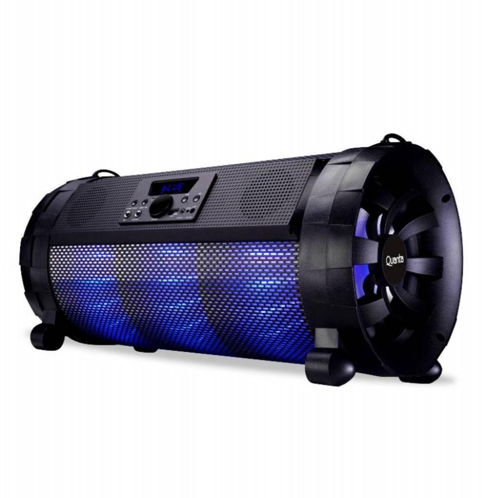 Speaker Quanta QTSBT22 80W com Bluetooth/FM/USB/Entrada para Microfone e Guitarra - Preto