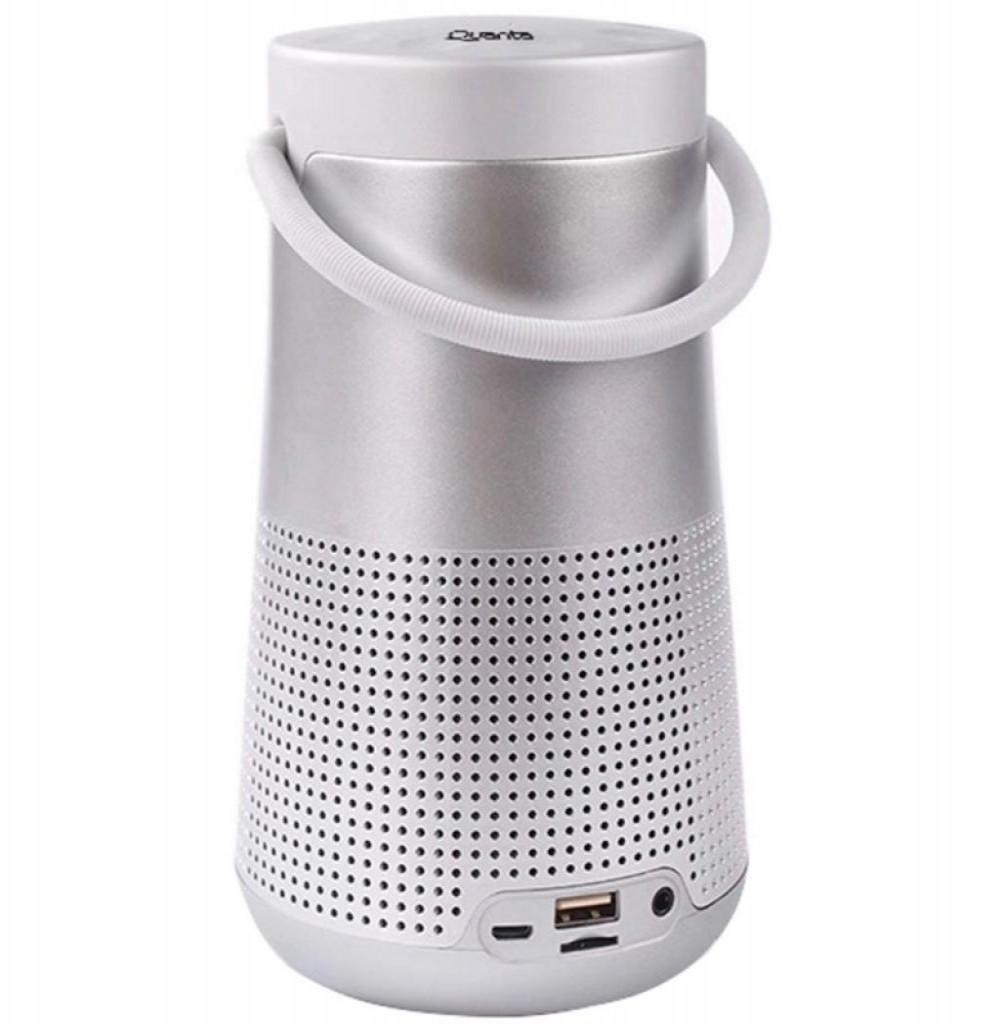 Speaker Quanta QTSPB38 com USB/Auxiliar/FM Bateria de 2.000 mAh - Prata