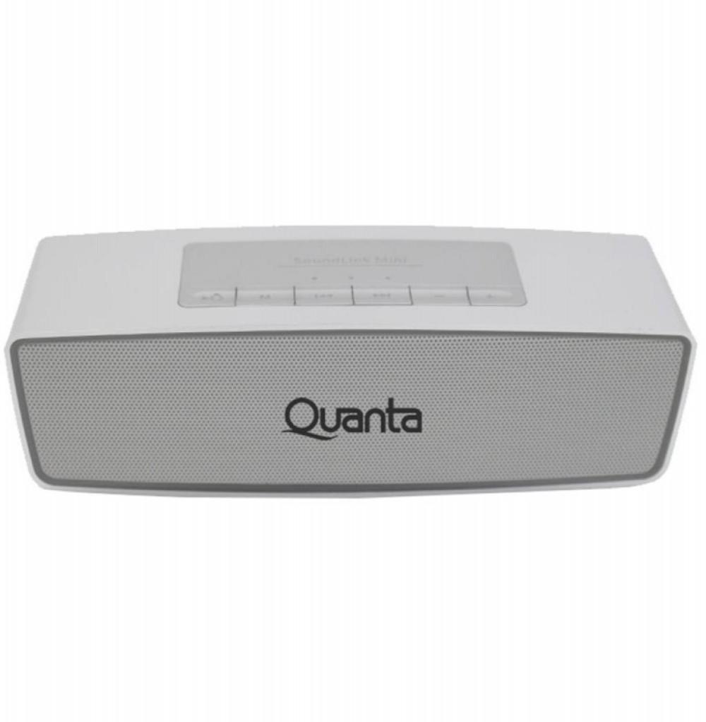 Speaker Quanta QTSPB40 com USB/Auxiliar/FM Bateria de 1.200 mAh - Prata