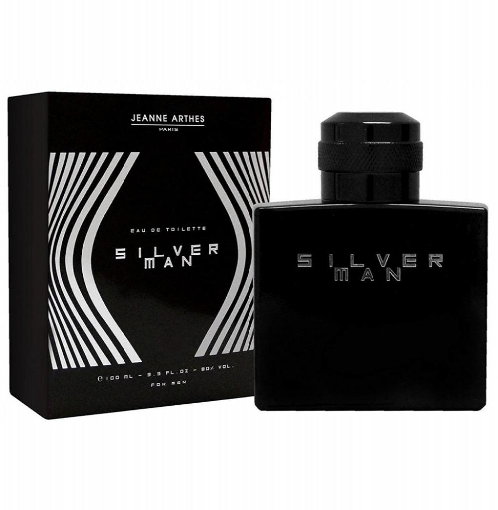 Perfume Jeanne Arthes Silver Man Eau de Toilette Masculino 100ML