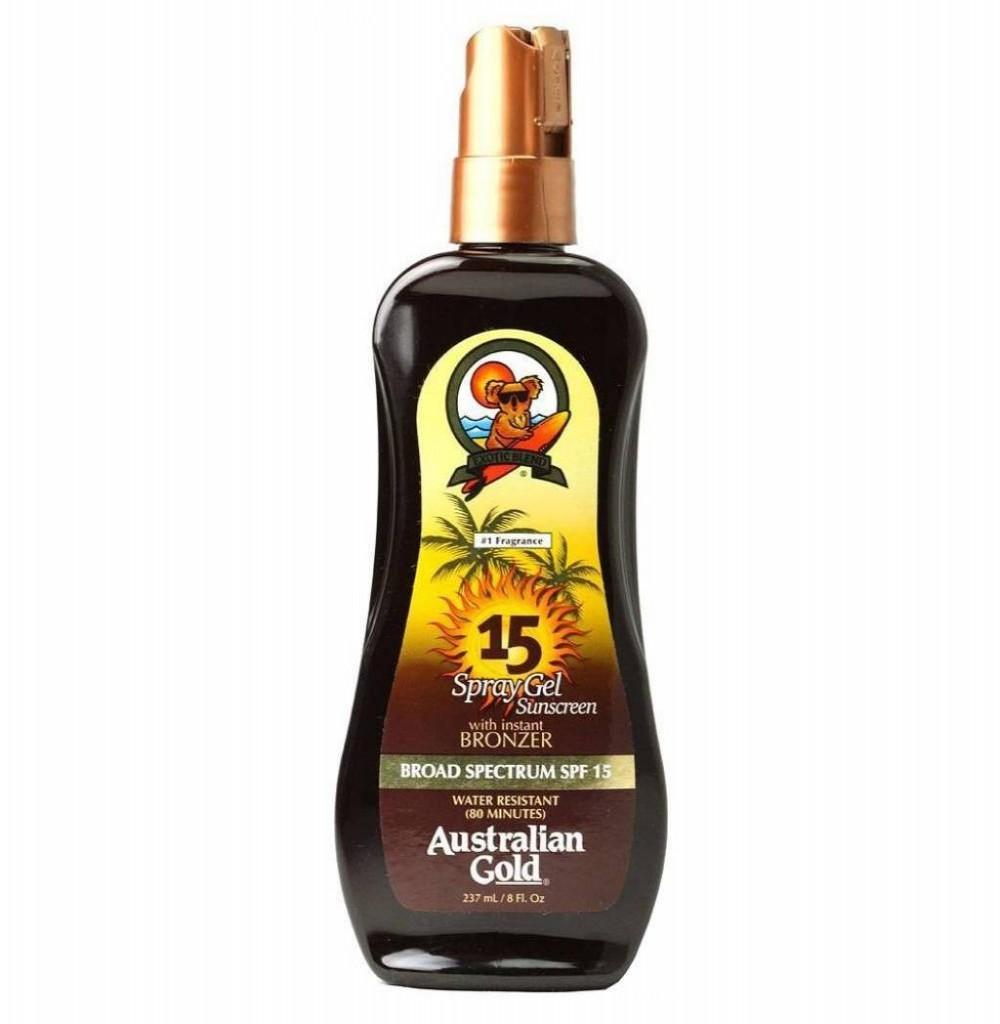Bronzeador Australian Gold Spray Gel SPF 15 237ML