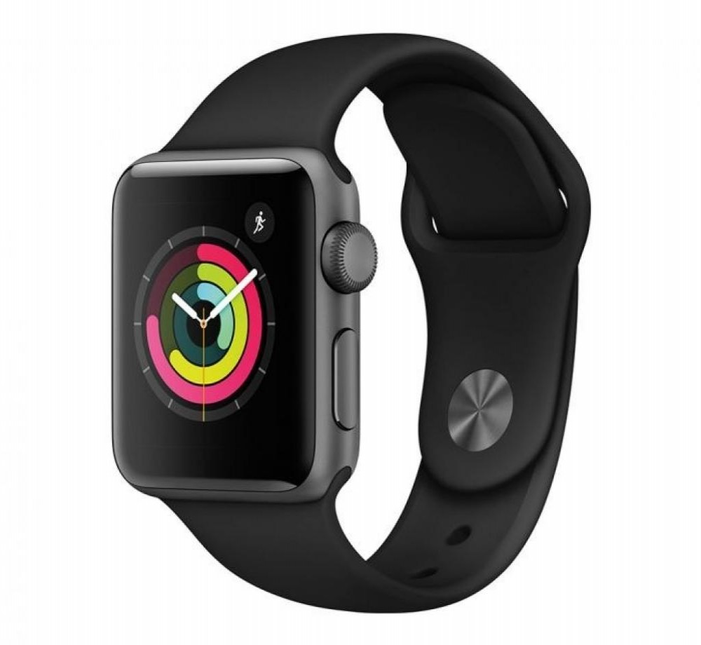 Relógio Apple Watch S3 38MM MTF02LL/A Preto Com Cinza