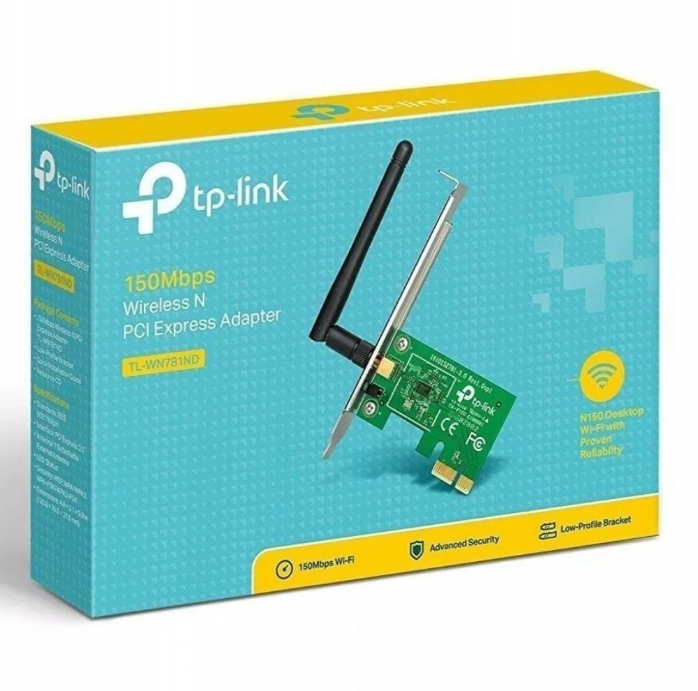 Placa Wifi Pci Express Tp-Link TL-WN781ND 150Mbps