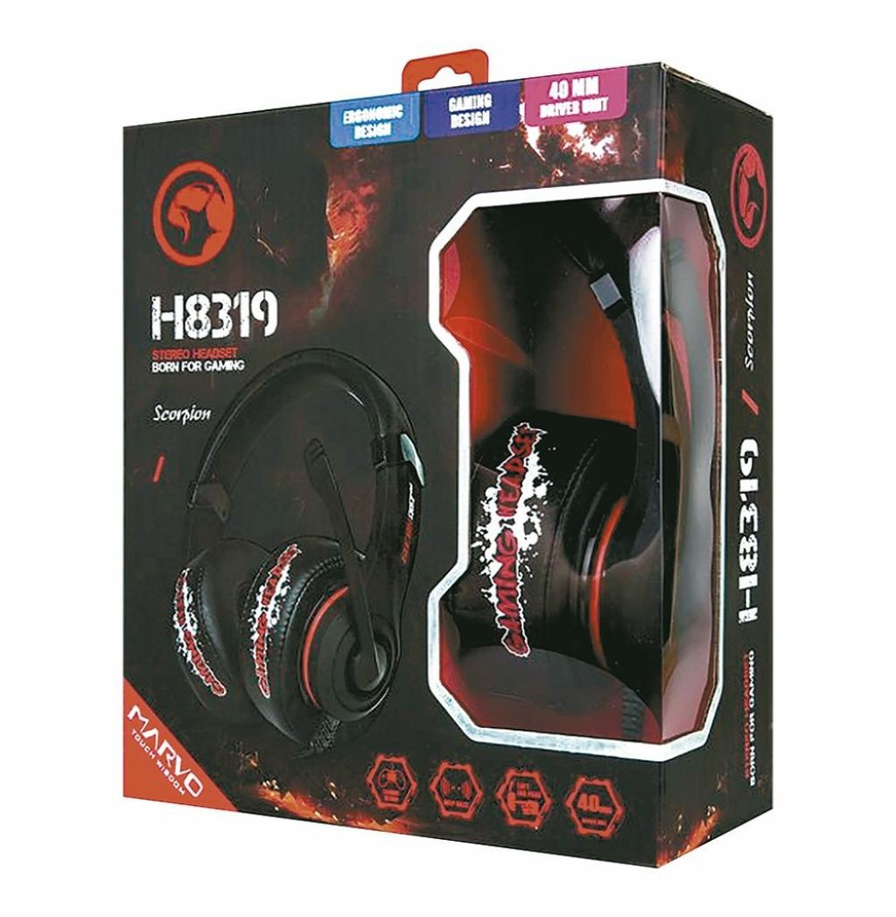 Headset para Jogos Marvo Scorpion H8319 Preto/Vermelho