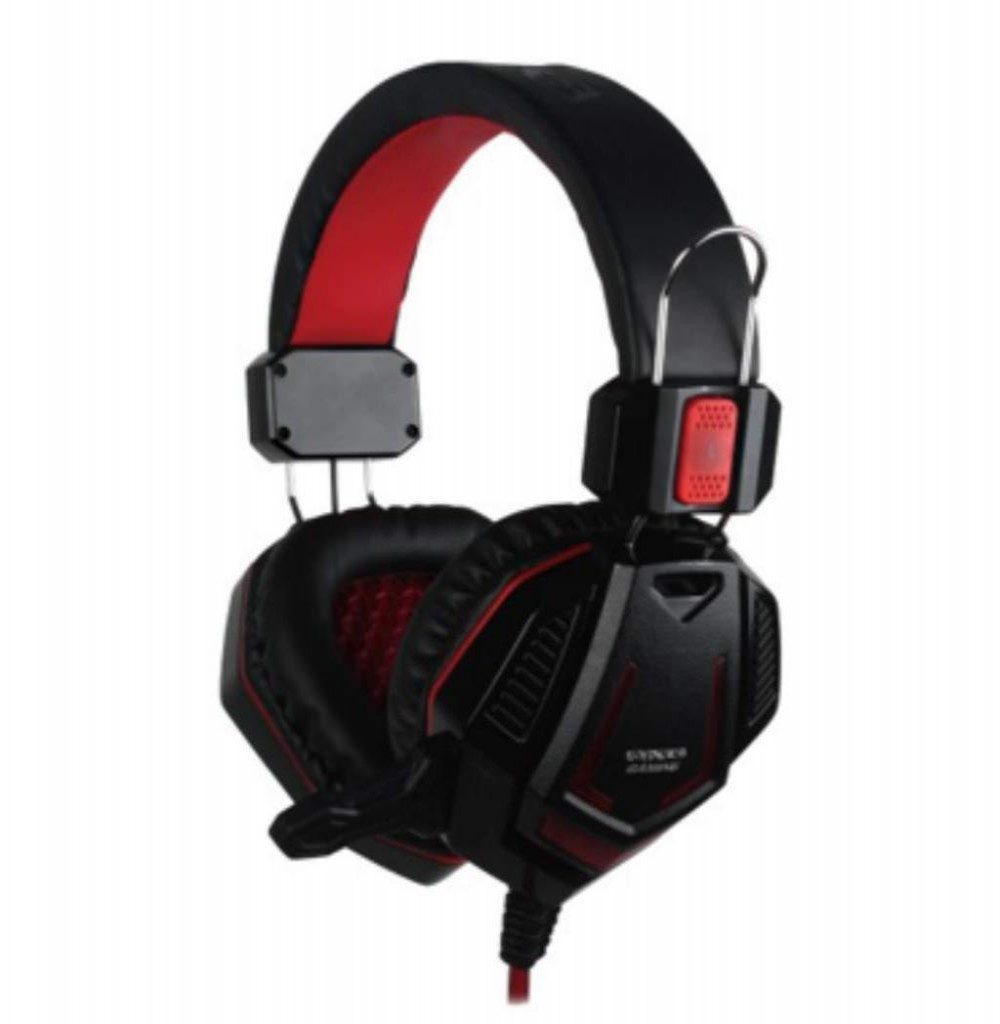 Headset Satellite AE-328R Gaming com Microfone - Vermelho/Preto