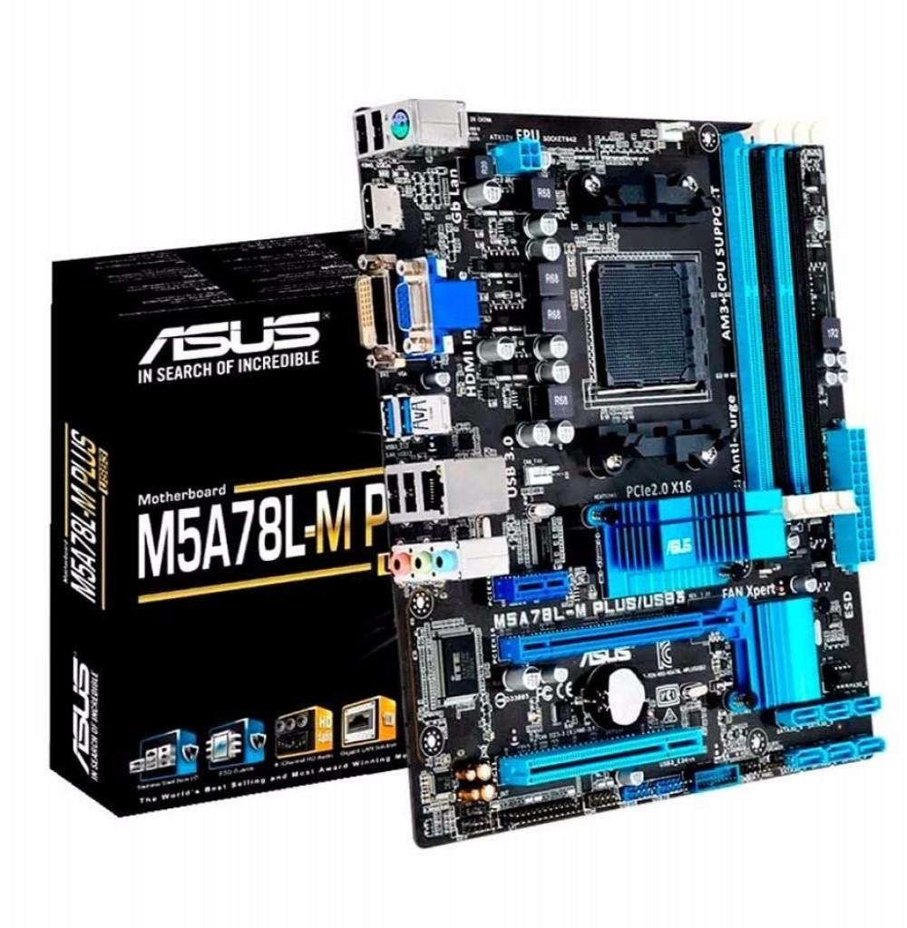 Placa Mãe Asus M5A78L-M Plus Socket AM3+ até 4 DDR3