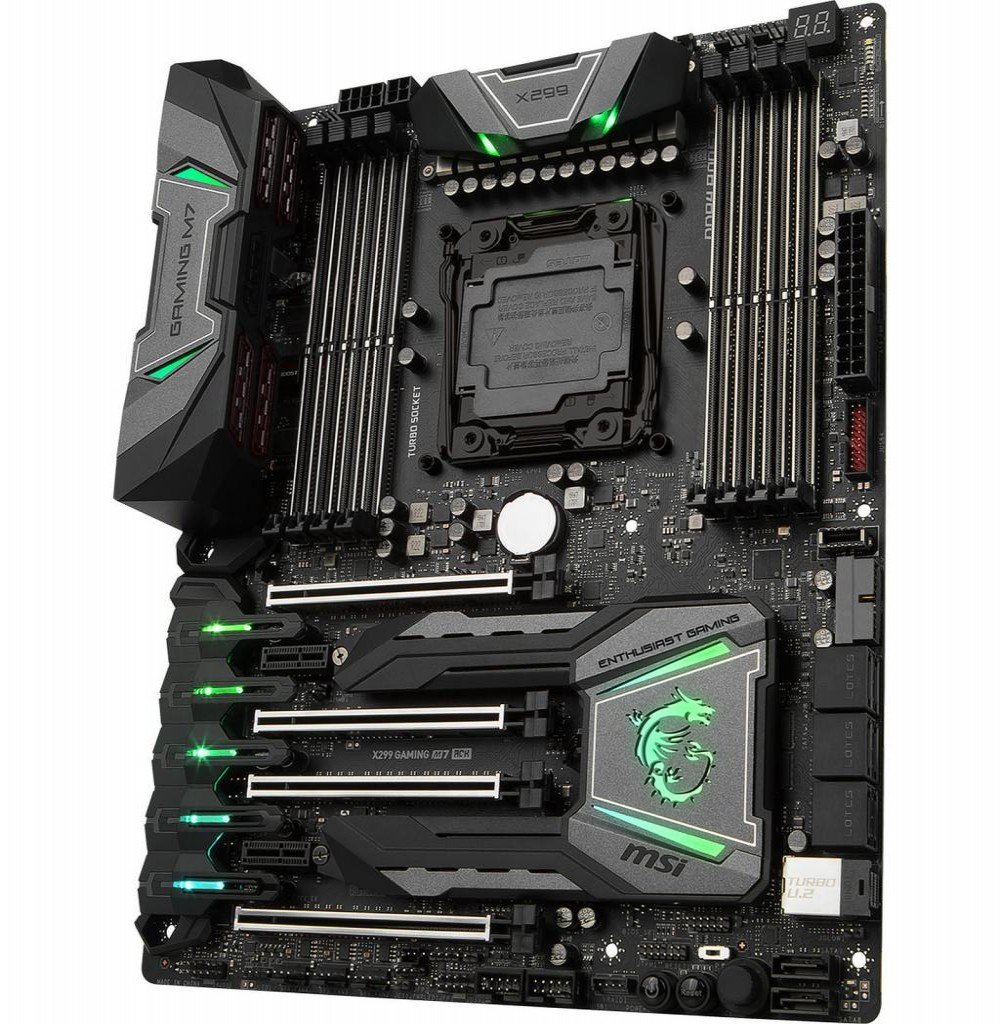 Placa Mãe Msi X299 Gaming M7 Ack Lga 2066 Intel X299 6gb/s