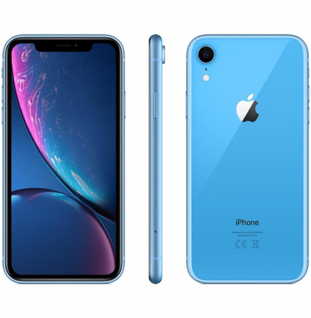 "Apple iPhone XR A2105 128GB Tela Liquid Retina 6.1"" 12MP/7MP iOS - Azul"