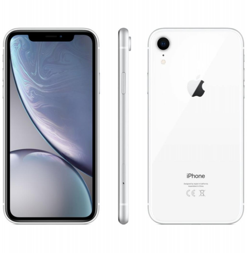 "Apple iPhone XR A2105 128GB Tela Liquid Retina 6.1"" 12MP/7MP iOS - Branco"