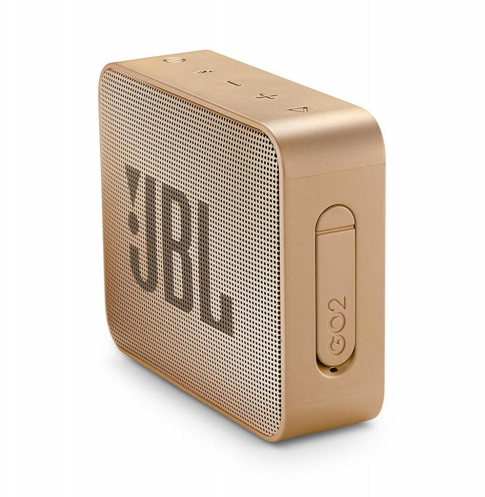 Speaker JBL Go 2 com Bluetooth/Auxiliar Bateria de 730 mAh - Champagne